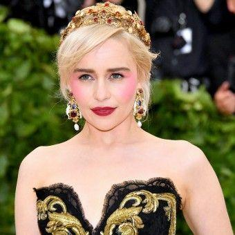Emilia Clarke Wore This Year's Biggest Blush Trend to the Met Gala