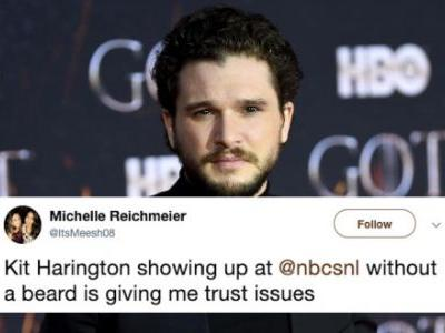 Kit Harington Shaved Off His Beard To Host 'SNL' And The Internet Had FEELINGS