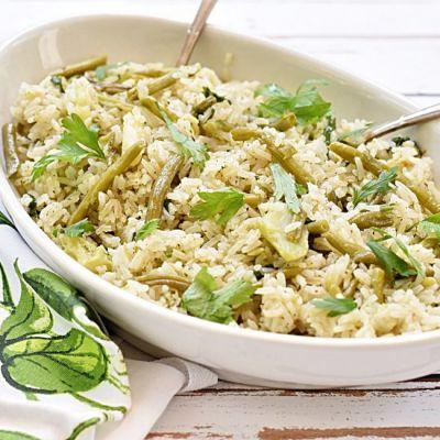 Rice with Broccoli and Green Beans