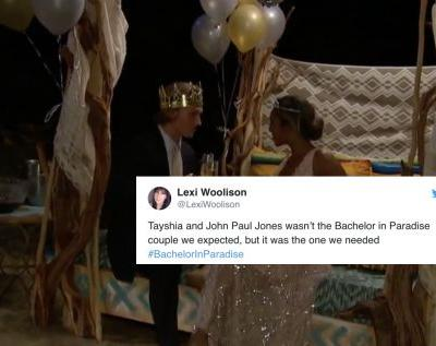 These Tweets About John Paul Jones & Tayshia's 'Bachelor In Paradise' Prom Are Sweet