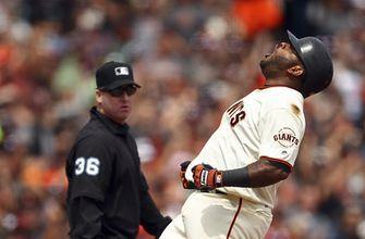 Giants' Sandoval out for the season with hamstring tear