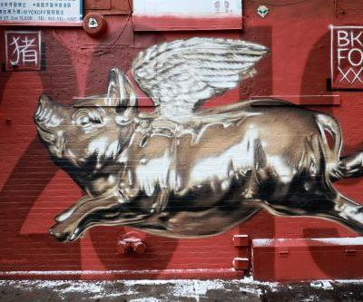 """Year Of The Pig"" by BK Foxx in Chinatown, New York City"
