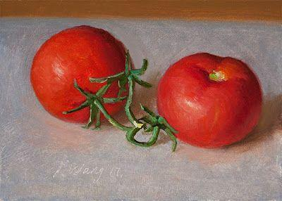 Tomatoes daily painting a day