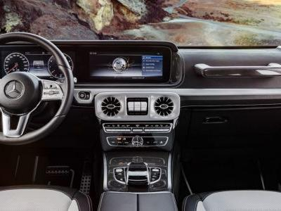 Here's Your First Look At The New Mercedes G-Class' Swanky Cabin