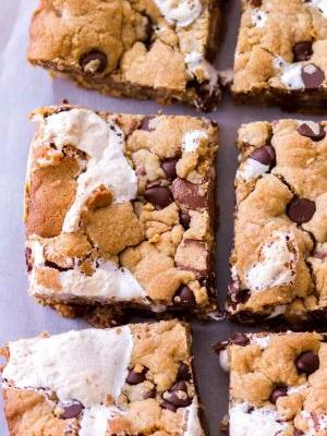 Marshmallow Peanut Butter Cookie Bars