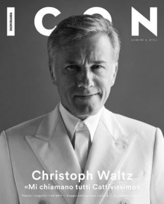 Christoph Waltz in Dolce&Gabbana on the cover of Icon by