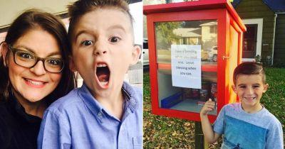 Mother and son set up 'blessing box' outside their home to help locals in need