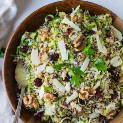 Shaved Brussels Sprouts and Quinoa