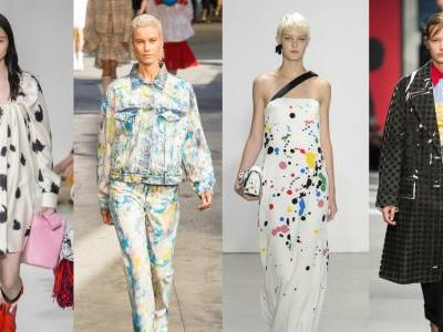 Colorful Paint Splatters Are Covering the Spring 2018 Runways