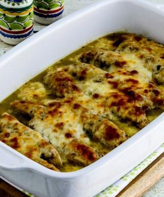Salsa Verde Chicken Bake