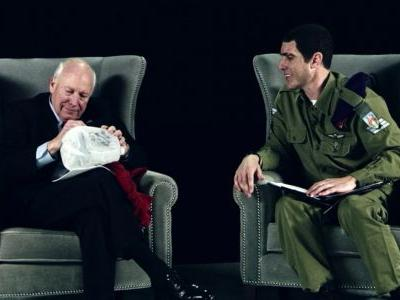 Dick Cheney signed a 'waterboard kit' on the latest episode of Sacha Baron Cohen's TV show, and it was sold on eBay