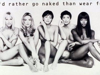 Peta are retiring their anti-fur campaigns with naked celebrities