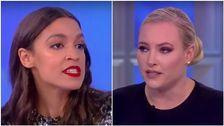 Meghan McCain Confronts Alexandra Ocasio-Cortez About Bernie Bros On 'The View'