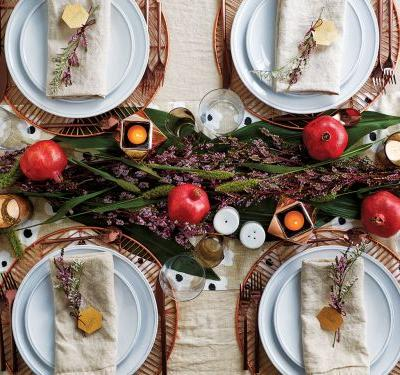 2 Gorgeous Holiday Tables -With Just One Set Of Tableware