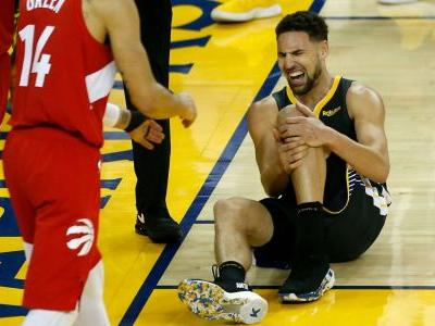 NBA players send messages of support to Klay Thompson following brutal knee injury