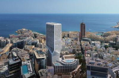"Zaha Hadid Architects' Mercury Tower adds a ""Sense of Dynamism"" to Malta's East Coast"
