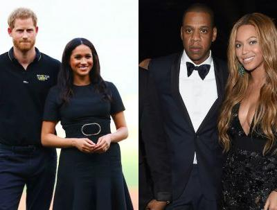 The Photos Of Meghan, Harry, Beyonce, & JAY-Z At 'The Lion King' Premiere Are SquadGoals