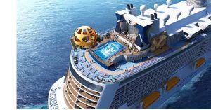 Royal Caribbean International's newest ship Spectrum of the Seas arrives at Kochi in South India