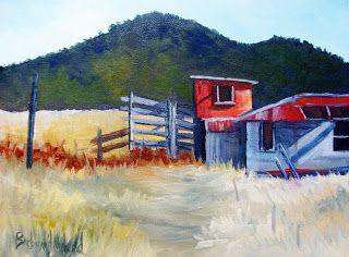 Red Shed, oils on canvas, Barbara Haviland