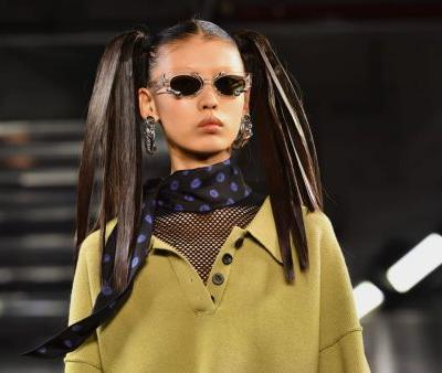 Alexander Wang's 'Collection 2' Beauty Look Draws on Logomania and Carolyn Bessette-Kennedy