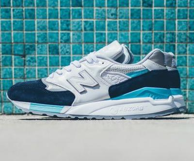 New Balance Drop the Newest Pair of 998's in an Icy White, Navy, and Silver Colorway