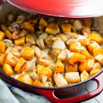 Maple Butter Squash and Apples