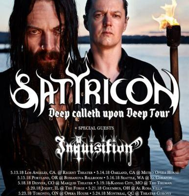 SATYRICON Announces 'Final' U.S. Headlining Tour