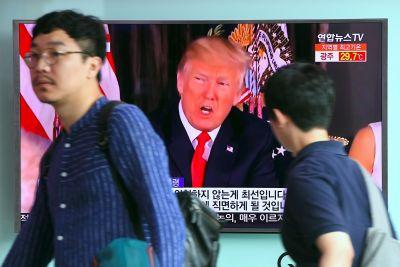 Trump Increases Rhetoric on North Korea, As His Aides Fight It Out