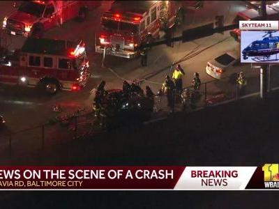 1 dead, others injured in I-95 crash in Baltimore