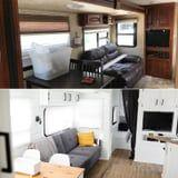 "This Couple Drastically Transformed Their Trailer, and the ""After"" Photos Are Jaw-Dropping"