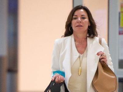 'RHONY' Star Luann De Lesseps Looks Fierce As Hell In All-White At JFK Airport