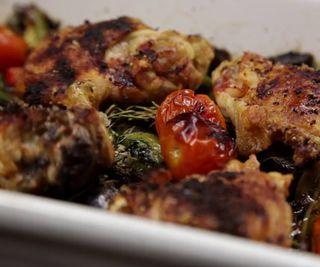 How to Cook a Roast Chicken Bake With Saffron Rice
