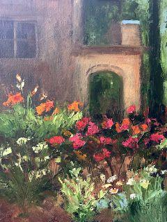 Ward Parkway Garden, New Contemporary Landscape Painting by Sheri Jones