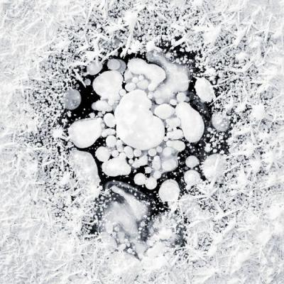 Frozen Bubble Formations and Shards of Snow Captured in Alaska's Swamps and Ponds by Ryota Kajita