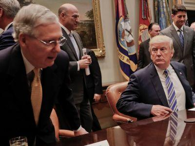 The brewing war between Trump and Mitch McConnell has spilled out into the open
