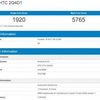 Alleged HTC U11 Plus Android Flagship Hits Geekbench