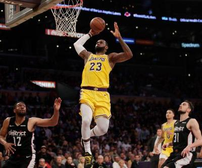 LeBron leads Lakers past Wiz 124-106 for back-to-back wins