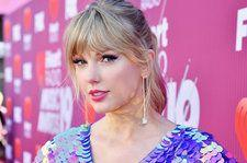 Taylor Swift Spotted With Pink-Dipped Hair Before Hitting Time 100 Red Carpet in Princess Gown