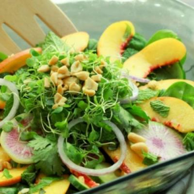 Asian-Inspired Summer Peach Salad
