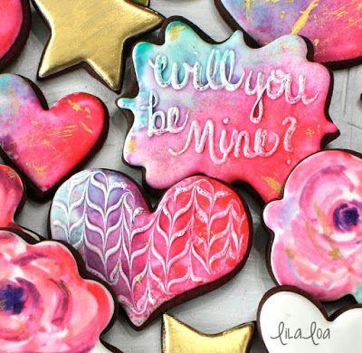 How To Make Wet-On-Wet Watercolor Cookie Designs