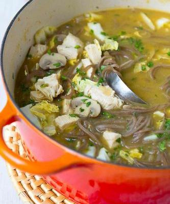 Turkey Soup Recipe with Soba Noodles