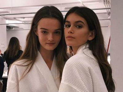 Kaia Gerber Makes Her Runway Debut for Calvin Klein