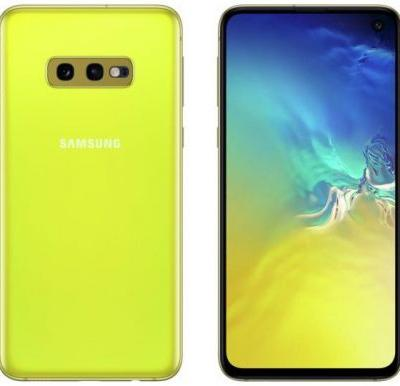 Samsung Galaxy S10e in Canary Yellow leaked