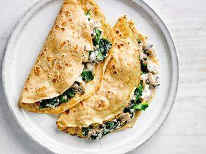 These Crepes With Spinach, Mushroom And Ricotta Are What Brunch Is All About