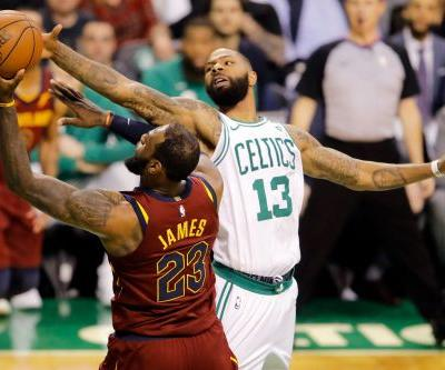 Celtics' forward Marcus Morris backs up bold talk on stopping LeBron James in Game 1