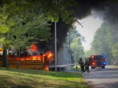 Courageous bus driver honored for saving 30 students during bus fire