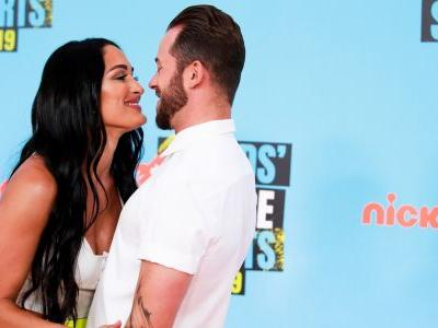 Nikki Bella and Artem Chigvintsev Make Their First Red Carpet Appearance at the Kids' Choice Sports Awards