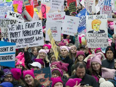 Inspired by Washington, more than one million women march around the world to send Trump a message