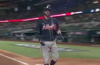 Dansby Swanson crushes solo homer as Braves double NLCS Game 7 lead over Dodgers, 2-0