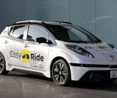 Nissan and DeNA will begin testing a self-driving taxi service in Japan next month